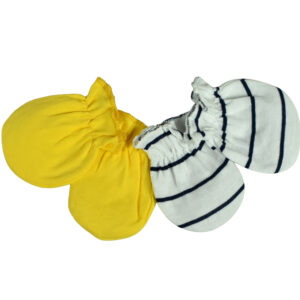 Carters Love 2 Pair of Mittens - Yellow-0