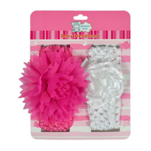 Baby Head Band With Flower Applique - Pack of 2-0