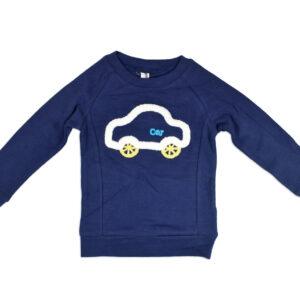 Full Sleeve Baby Tshirt (Car Print) - Blue-0