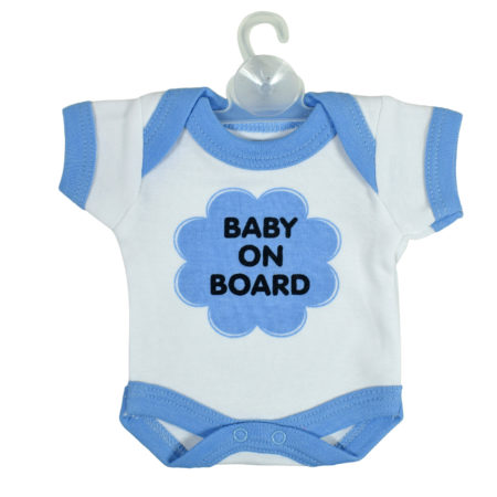 Baby On Board Sign Hanger (Onesies Style) - Sky Blue-0