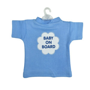 Baby On Board Sign Hanger (Tshirt Style) - Sky Blue-0
