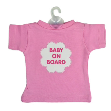 Baby On Board Sign Hanger (Tshirt Style) - Pink-0