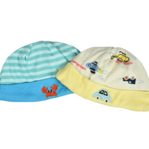 Carters Love Round Neck Cap - Pack of 2-0