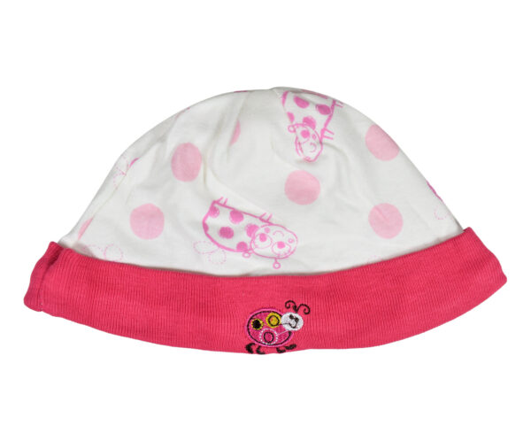 Carters Love Round Neck Cap - Pack of 2 - Violet/Peach-19665