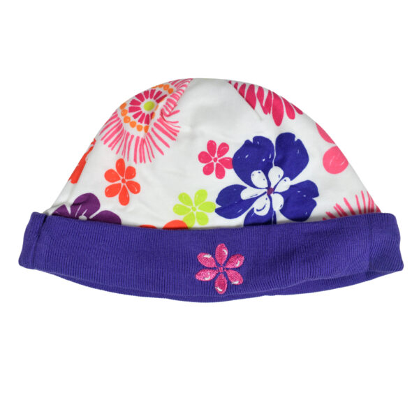Carters Love Round Neck Cap - Pack of 2 - Violet/Peach-19669