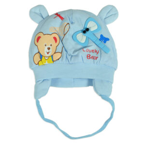 Baby Winter Cap (Assorted Character) - Sky Blue-0