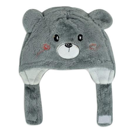 Baby Furr Winter Cap (Bear Character) - Grey-0