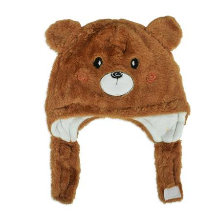 Baby Furr Winter Cap (Bear Character) - Brown-0