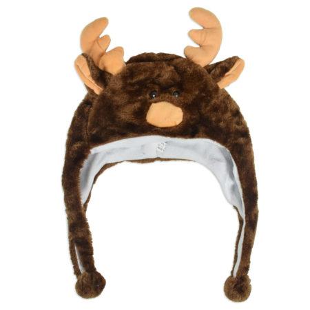 Baby Fur Winter Cap (Deer Character) - Brown-0