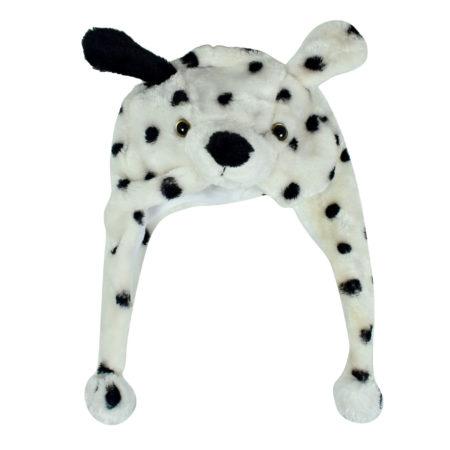 Baby Fur Winter Cap (Dog Character) - White/Black-0