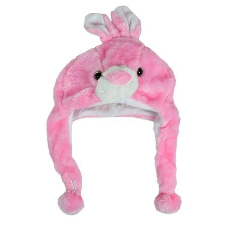 Baby Fur Winter Cap (Rabbit Character) - Pink-0