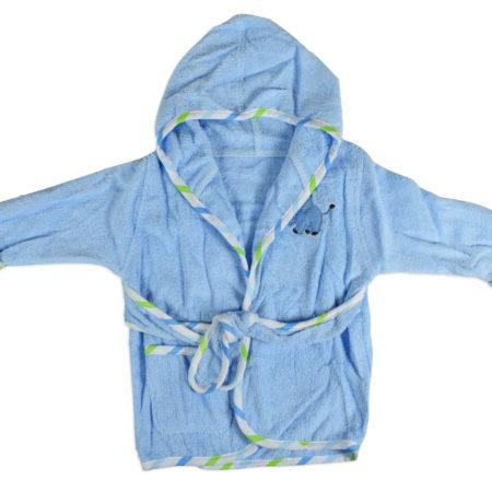 Baby Hooded Bathing Gown (Towel) - Sky Blue-0