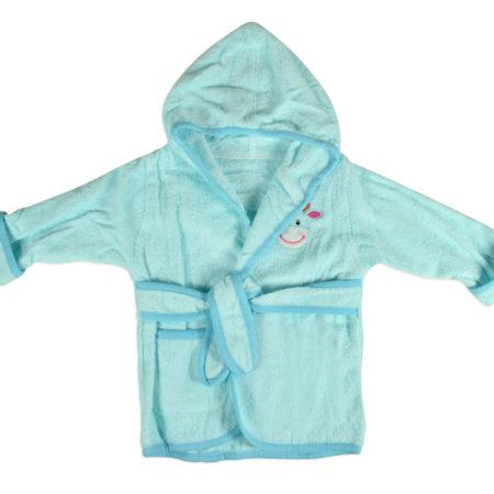 Baby Hooded Bathing Gown (Towel) - Aqua-0