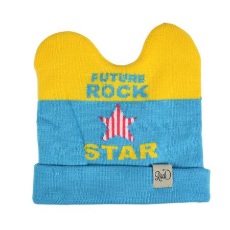 Baby Woolen Cap For Winter - Yellow/Blue-0