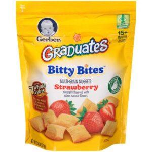 Gerber Graduates Bitty Bites Multigrain Snack - Strawberry - 71gm-0