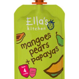 Ella's Kitchen Organic Mangoes Pears & Papaya (4M+) - 120g-0