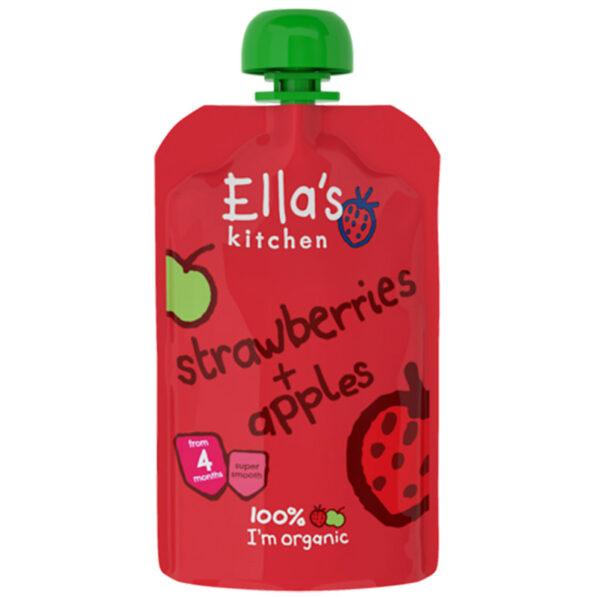Ella's Kitchen Organic Strawberries & Apple Puree (4M+) - 120 gm-0