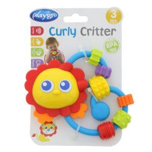 Playgro Curly Critter (Panda) - Multicolor-0