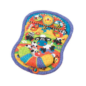 Playgro Travel Pals Tummy Time Mat - Multicolor-0