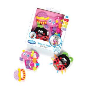 Playgro Shake 'n' Rattle Gift Pack - Pink-0