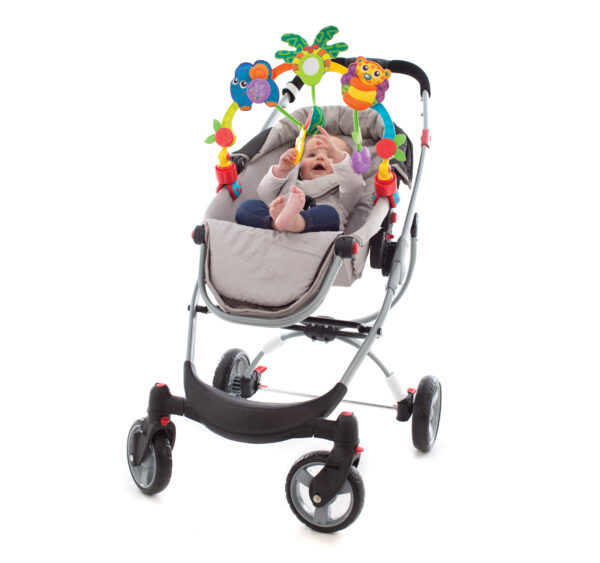 Playgro Tropical Tunes Travel Play Arch - Multicolor-26549