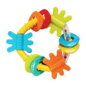 Playgro Triangle Teeher cum Rattle - Multicolor-0