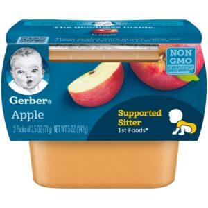 Gerber 1st Foods Apples Baby Food, 71gm Tubs, 2 Count-0