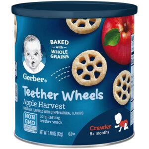 Gerber Graduates Wagon Wheels, Apple Harvest - 42gm -0