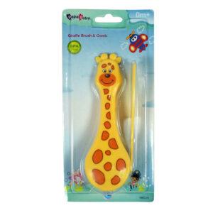 Papa Baby Girrafe Brush & Comb - Yellow-0