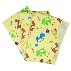 Changing Sheets Set Of 3 (Dinosaur Print) - Yellow-0