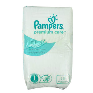 Pampers Premium Care Diapers, Size 1, Value Pack - 2-5 kg, 56 Count-0