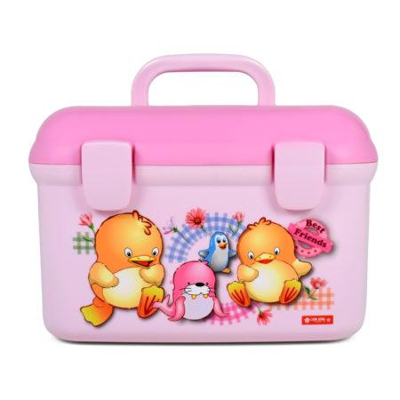 Lion Star Multi Purpose Storage Box - Pink-0