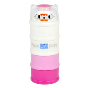Papa Milk Container - Pink White-0