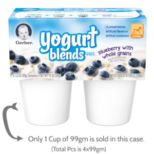 Gerber Yogurt Blends Snack Blueberry with Whole Grain Yogurt 1-99gm Cups-0
