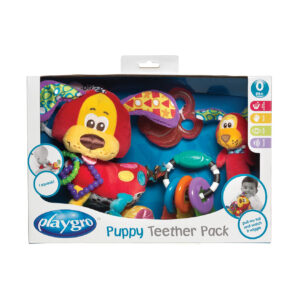 Playgro Puppy Teether Pack - Multicolor-0