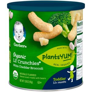 Gerber Lil' Crunchies White Cheddar & Broccoli (12M+) - 45gm-0