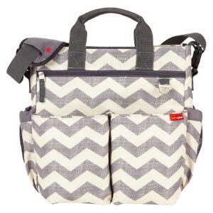 Skip Hop Dash Signature Messenger Diaper Bag - White Grey-0