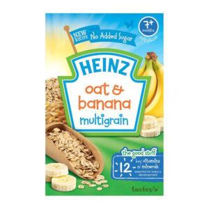 Heinz Oat and Banana Multigrain Breakfast Cereal (7M+) - 120gm-0