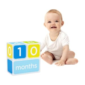 Pearhead Baby Age Block - Blue-0
