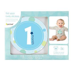 Pearhead Baby Milestone Stickers, Blue-0