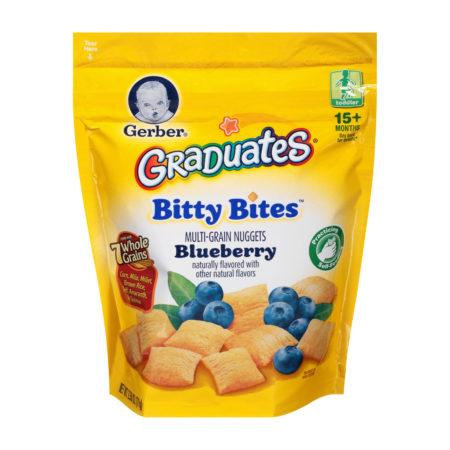 Gerber Graduates Bitty Bites Multigrain Snack, Blueberry, 71 gm-0