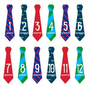 Pearhead Necktie Milestone Stickers Multicolor - 12 Stickers-0