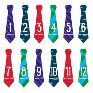 Pearhead Necktie Milestone Stickers Multicolor - 12 Stickers-0