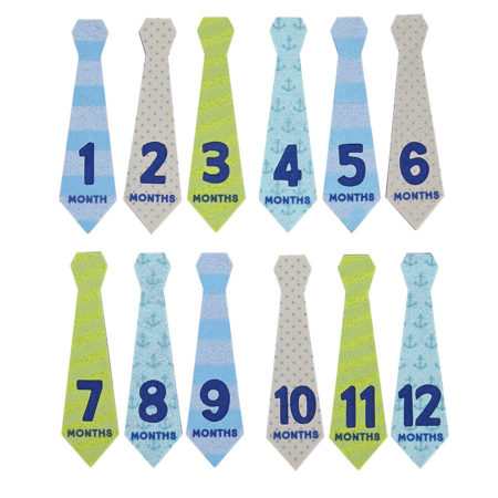 Pearhead Felt Tie Stickers (Blue, Green, Gray)-0
