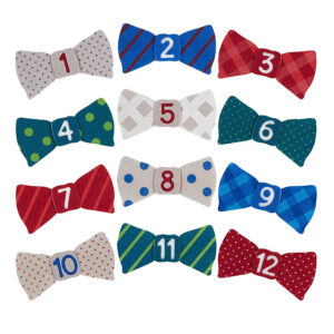 Pearhead Felt Bow Tie Stickers - 12 Pieces-0