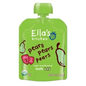 Ella's Kitchen Pears Pears Pears Super Smooth Puree Organic (4m+) - 4M+-0