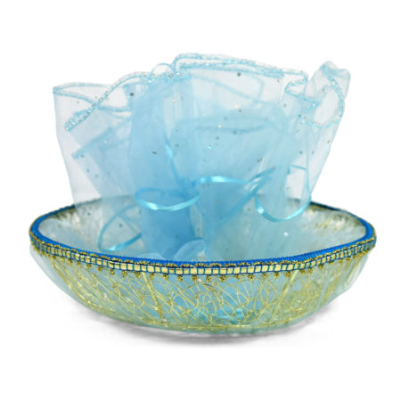 Baby Gift Wrapped Basket - For Gift Wrapping - Blue-0