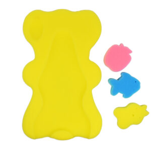 Bath Foam With 3 Bath Sponge - Yellow-0