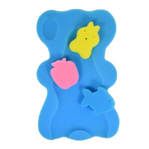Bath Foam With 3 Bath Sponge - Blue-0
