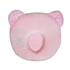 Star Print Pooh Shape Soft Pillow - Pink-0